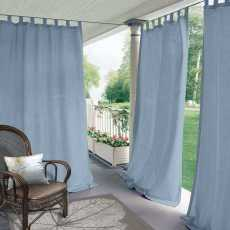 CUSTOM Edoardo Sky Blue Outdoor Curtain