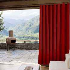 CUSTOM Edoardo Red Outdoor Curtain