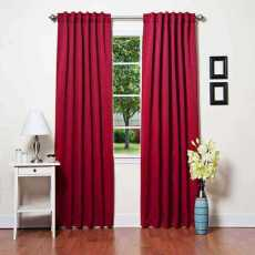 CUSTOM EDOARDO Red Indoor Blackout Curtain