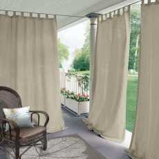 CUSTOM Edoardo Beige Outdoor Curtain