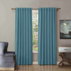 CUSTOM EDOARDO Turquoise Indoor Blackout Curtain