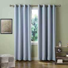 CUSTOM EDOARDO Sky Blue Indoor Blackout Curtain