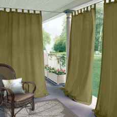 CUSTOM Edoardo Olive Green Outdoor Curtain