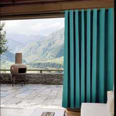 CUSTOM Edoardo Turquoise Outdoor Curtain