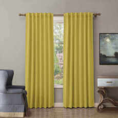 CUSTOM EDOARDO Yellow Indoor Blackout Curtain