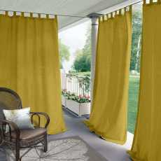 CUSTOM Edoardo Yellow Outdoor Curtain