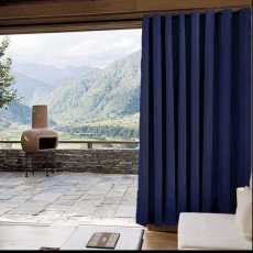 CUSTOM Edoardo Navy Outdoor Curtain