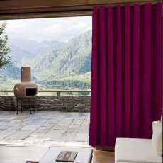 CUSTOM Edoardo Burgundy Outdoor Curtain