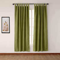 CUSTOM Olive Green Luxury Textured Faux Linen Curtain