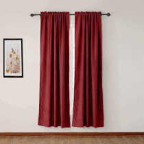 CUSTOM Olive Burgundy Luxury Textured Faux Linen Curtain