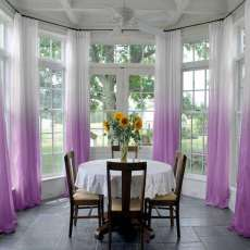 Pinch Pleated Gradient Ombre Sheer Curtain Tulle Gradual Drapes For Indoor Outdoor Front Porch Pergola Cabana Covered Patio Gazebo and Beach Room (1 Panel) Hanna Collection