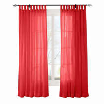 CUSTOM Scandina Red Indoor Outdoor Sheer Curtain Voile Drapery