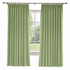 CUSTOM Liz Olive Polyester Linen Curtain Drapery with Lined