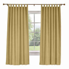 CUSTOM Liz Khaki Polyester Linen Curtain Drapery with Lined