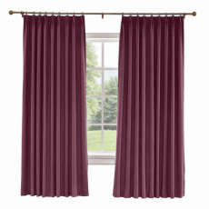CUSTOM Liz Plum Polyester Linen Curtain Drapery with Lined