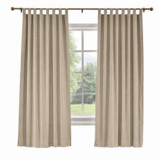 CUSTOM Liz Rosy Brown Polyester Linen Curtain Drapery with Lined