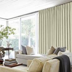 Polyester Cotton Drapery With Blackout Lining Pinch Pleat Curtains