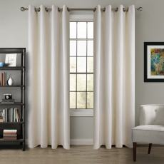 Textured Heavy Weight 100% Linen Curtain Drapes Grommet