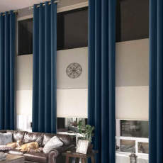 Extra Long Loft Drapes Thermal Insulated Blackout Antique Bronze Grommet Curtains Heavy Weight