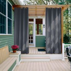 CUSTOM Edoardo Dark Grey Outdoor Curtain