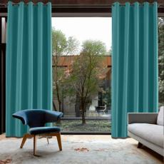 CUSTOM Capri Pagoda Blue Blackout Curtains with Liner