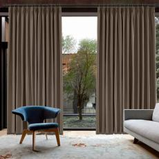CUSTOM Capri Brown Blackout Curtains with Liner