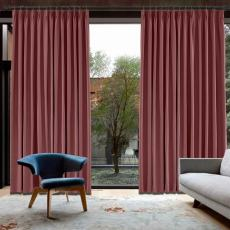 CUSTOM Capri Burgundy Wine Blackout Curtains with Liner