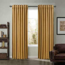 Set of 2 Back Tab and Rod Pocket 2 IN 1 Unlined Velvet Curtain Drape Panel