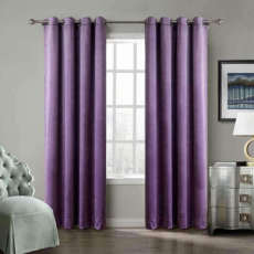 Nickel Grommet Velvet Curtain Drape Panel with Blackout Lined