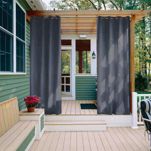Blackout Waterproof Outdoor Curtain Patio Drapery Edoardo Custom