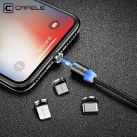LED Magnetic USB Cable Magnet Plug USB Type C Micro USB IOS Plug for iPhone Xs Xr X 8 7 6 Plus 5 SE huawei xiaomi samsung