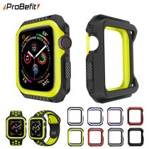 ProBefit Silicone+PC Hard Armor Case for Apple Watch 4 40MM 44MM Frame Full Protective Bumper Cover for iWatch 3 2 1 38MM 42MM