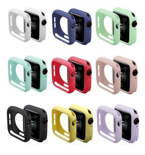 rubber bumper case For Apple Watch Series 4 3 2 1 Protective Cover for iWatch 40mm 44mm 38mm 42mm