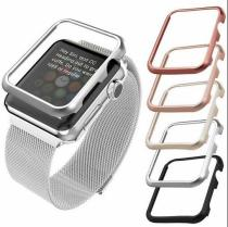high quality cover For Apple Watch band 42mm 38mm 40MM 44MM for  iwatch 4 3 2 1 metal frame protective Case