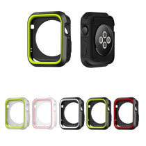 silicone cover for apple watch case 42mm 38mm 40mm 44mm sport band frame rubber soft case for iwatch series 4 3 2 1 back cover