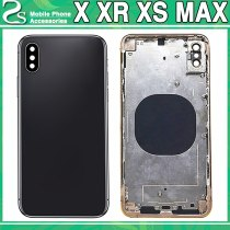 New XS XR Battery Cover For iPhone X XS / XS Max / XR iX Back Cover + Metal Chassis Middle Frame Full Housing Case Assembly