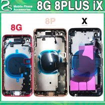 New 8G X Battery Cover For iphone 8 8 Plus 8P iX Back Cover+Middle Chassis Frame+SIM Card With Flex Cable Full Housing Assembly