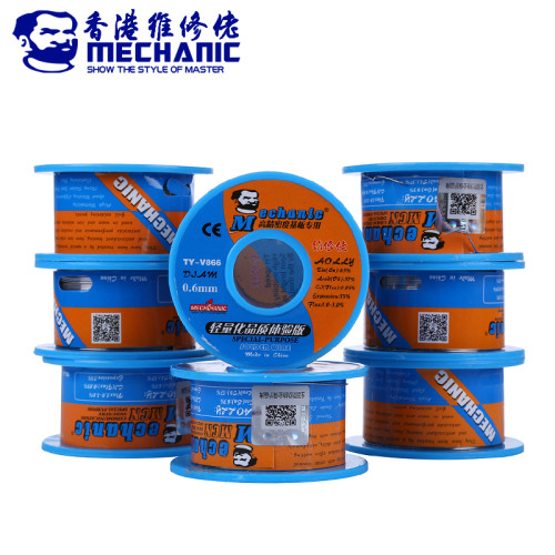 MECHANIC 40g 0.6mm Soldering Tin Wire Rosin Core Solder Wire Sn63% Pb37% Low Melting Point Welding Wire BGA Repair Tools