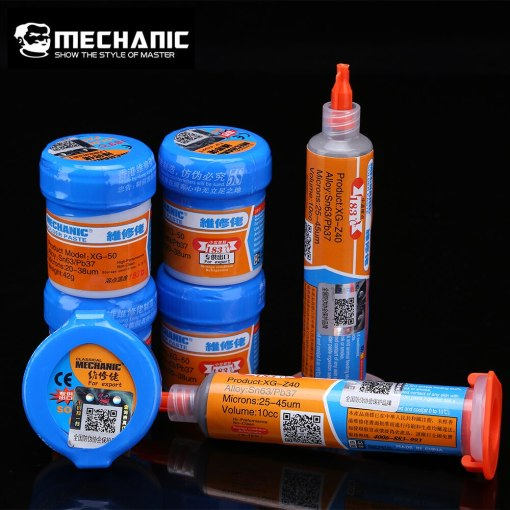 Original MECHANIC Solder Flux Paste Tin Cream SMD SMT BGA Tools Sn63/Pb37 25-45um Welding Paste Flux for Soldering