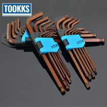 9PCS/Set Double End Hex Socket Wrench Hex Key Allen Wrench  Multifuctional Spanner Hex Key Set Car Repair Tool