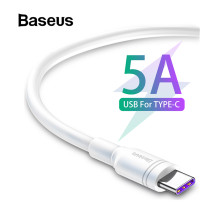 Baseus White TPE USB Type C Cable for Huawei mate 20 pro 5A Super Quick Charge USB C 2A Quick Charge for samsung galaxy s9 plus