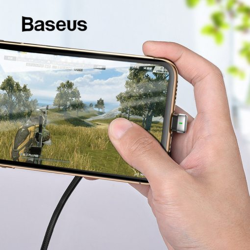 Baseus U-Type USB Cable for iPhone X xr xs max Charging Cable Led Light Mobile Phone Play Game Cable for iPhone 8 7 6 6s Plus