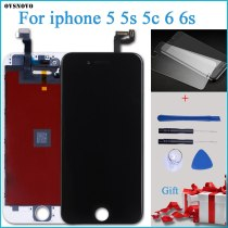 100% Tested New LCD for iPhone 5C Display with Touch Digitizer Assembly Black Free Shipping