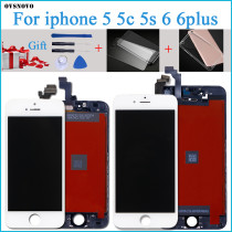 100% Tested New LCD for iPhone 6 Plus LCD Display with Touch Digitizer Assembly Black/White Free Shipping
