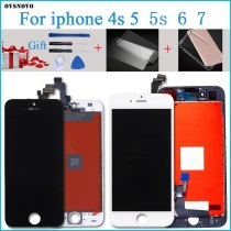 100% Tested New LCD for iPhone 7G  LCD Display with Touch Digitizer Assembly Black/White Free Shipping