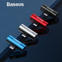 Baseus 2 in 1 Audio adapter For iPhone XR XS Max X Charging Adapter For iPhone 8 7 Plus Charging/Music/Calling Adapter For Phone