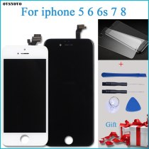 100% Tested New LCD for iPhone 5G LCD Display with Touch Digitizer Assembly Black/White Free Shipping