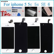 100% Tested New LCD for iPhone 6G  LCD Display with Touch Digitizer Assembly Black/White Free Shipping