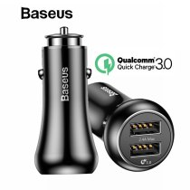 Baseus Quick Charge 3.0 Car Charger For iPhone Samsung Xiaomi Quick Charger QC3.0 Fast Charging Dual USB Mobile Phone Charger