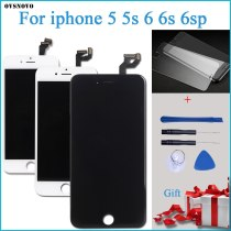 100% Tested New LCD for iPhone 4S LCD Display with Touch Digitizer Assembly Black/White Free Shipping